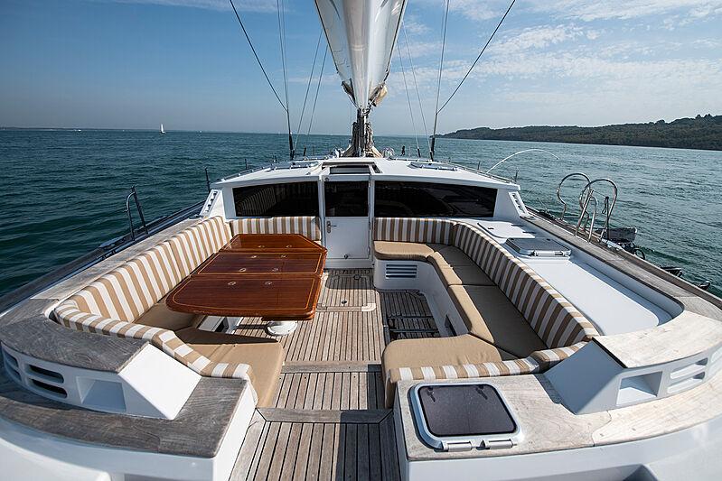 Lunar Mist yacht deck