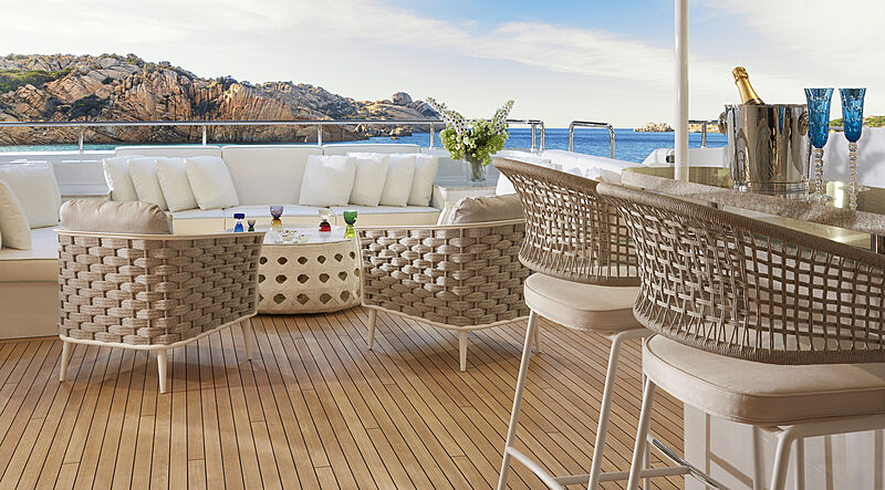Triton yacht deck
