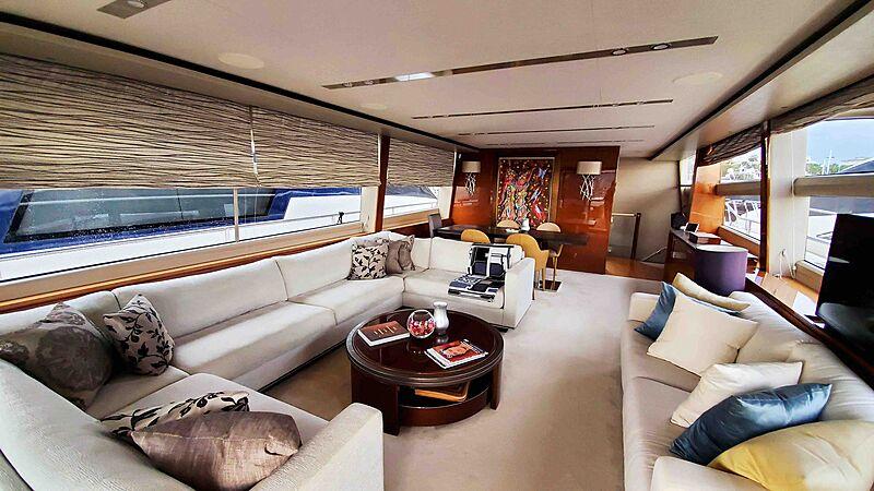Aqua Chameleon yacht saloon