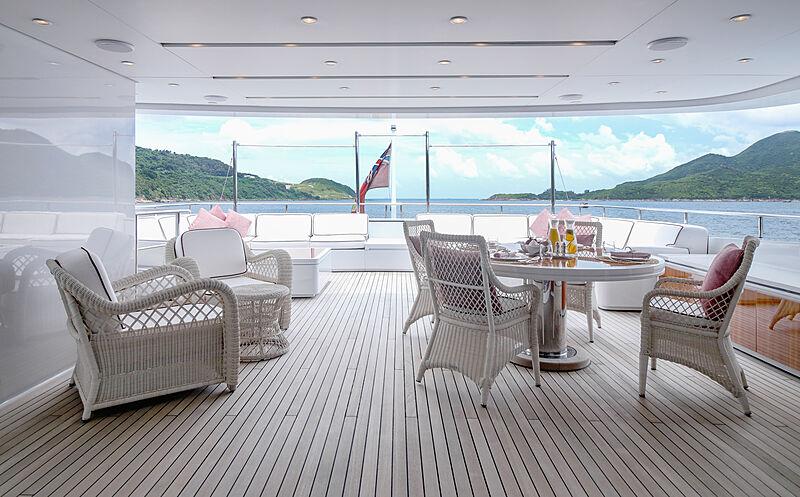 Forwin yacht aft deck