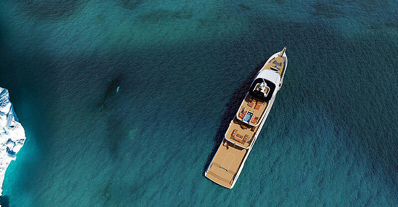 Project Bowsprit yacht exterior design by Vittoria Yachts