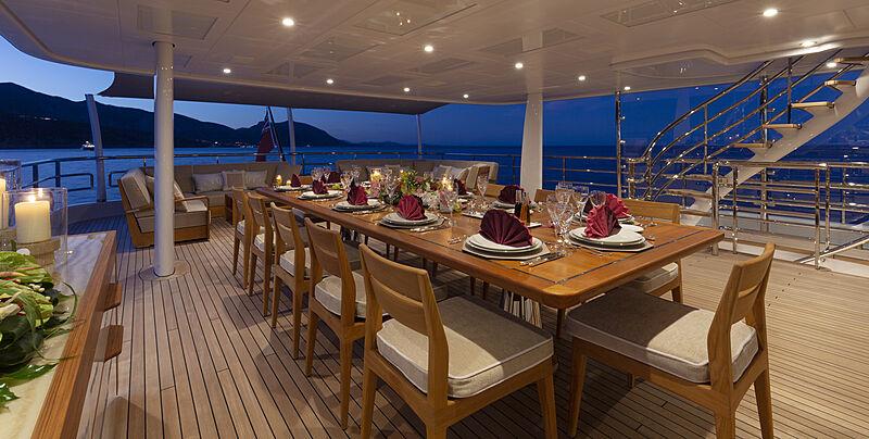 Galene yacht deck