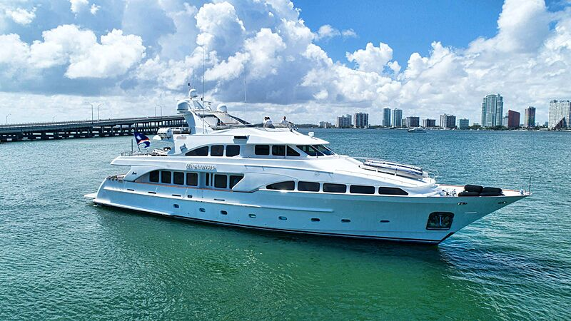Paradigm yacht anchored