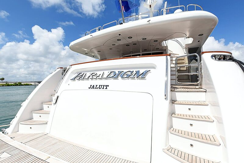 Paradigm yacht name plate