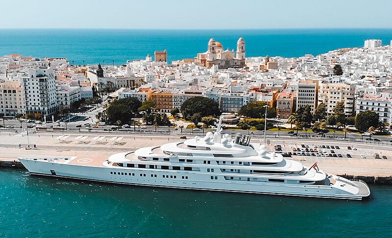 Azzam yacht by Lürssen in Cadiz, Spain
