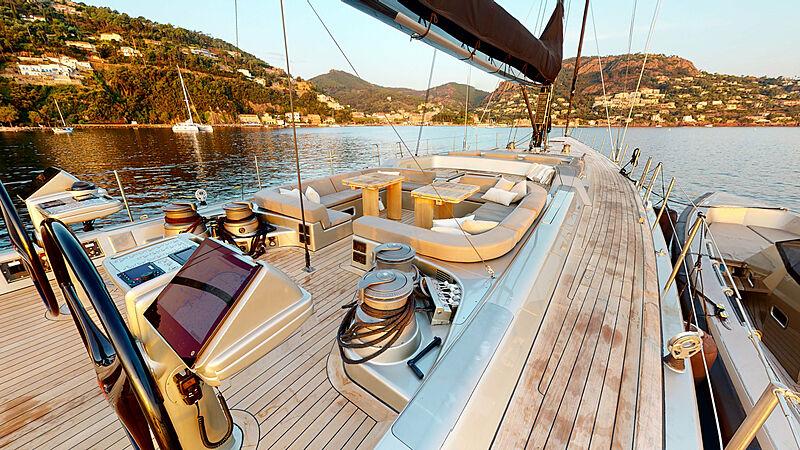 Dark Shadow yacht deck
