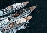 Sheherezade, OPUS & Dilbar yachts by Lürssen