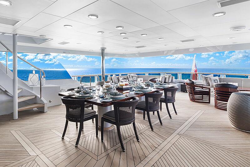 Ocean Club yacht deck dining