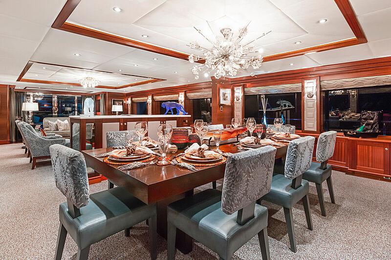 Ocean Club yacht dining