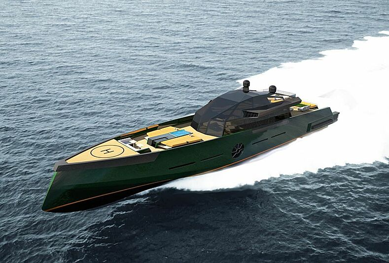 Vader 140 yacht concept by Marco Casali Design