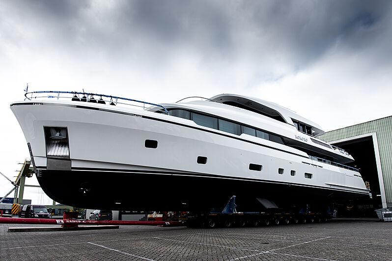 Kokoro yacht launch at Moonen Yachts
