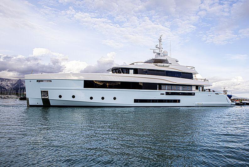Crocus yacht launch in marina di Carrara
