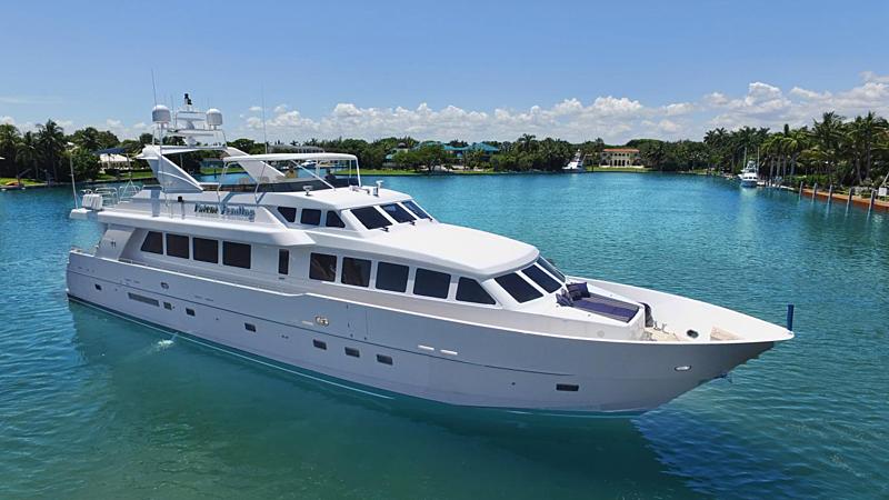 Yacht Lion's Den anchored