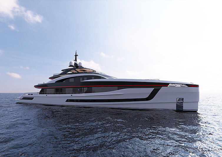 Project Skyfall yacht exterior rendering