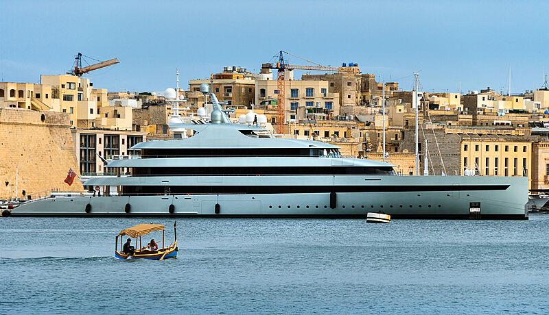 Savannah yacht by Feadship in Birgu, Malta