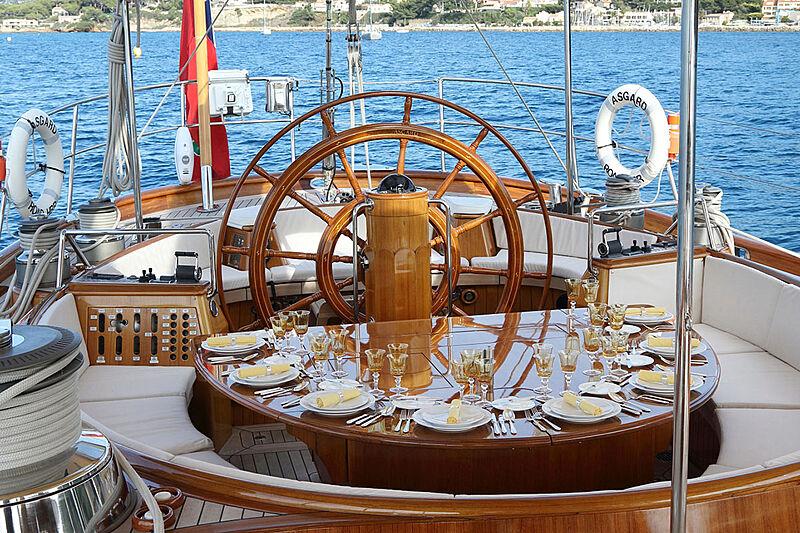 Asgard yacht deck/helm