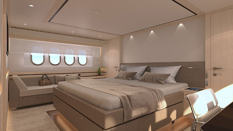 Helga yacht interior design