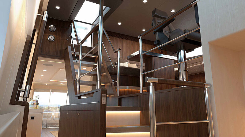 Helga yacht interior design