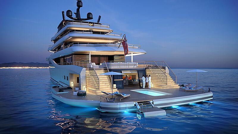 Nauta 85m Wave yacht concept exterior design