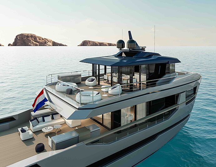 Orion yacht by Lynx Yachts exterior design