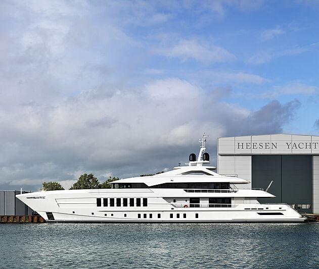 Pollux yacht at Heesen shipyard