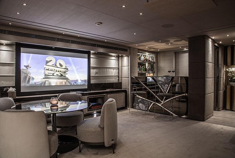 Severin's yacht saloon/cinema