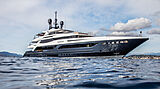 Severin's yacht anchored
