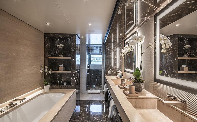 Severin's yacht bathroom