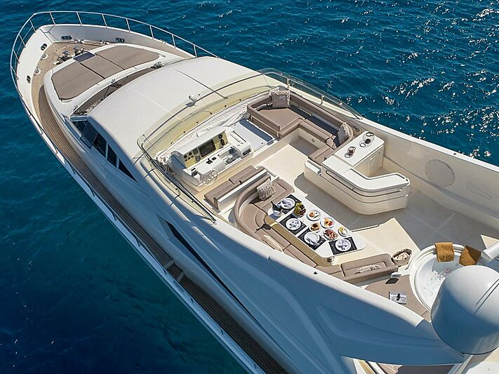 Elite yacht sundeck aerial