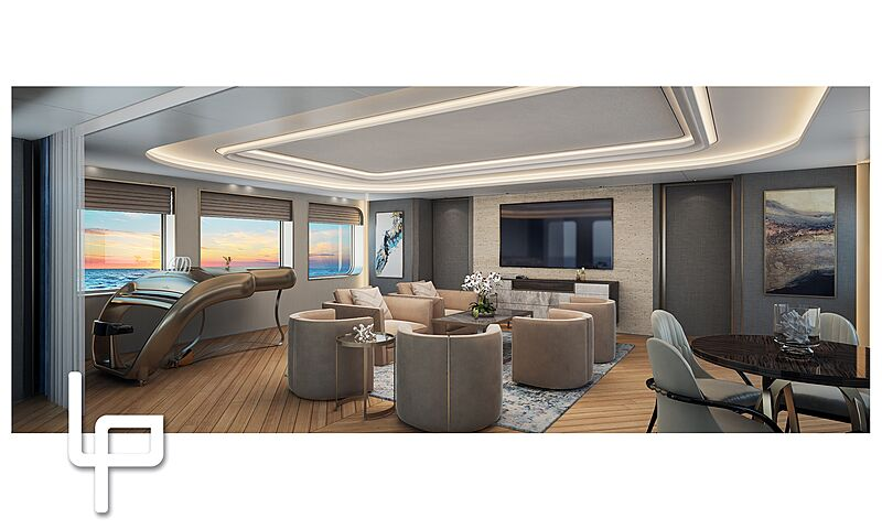 Amels 20003 yacht interior design