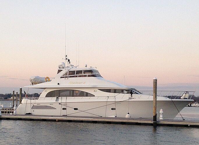 Equinox II yacht in marina