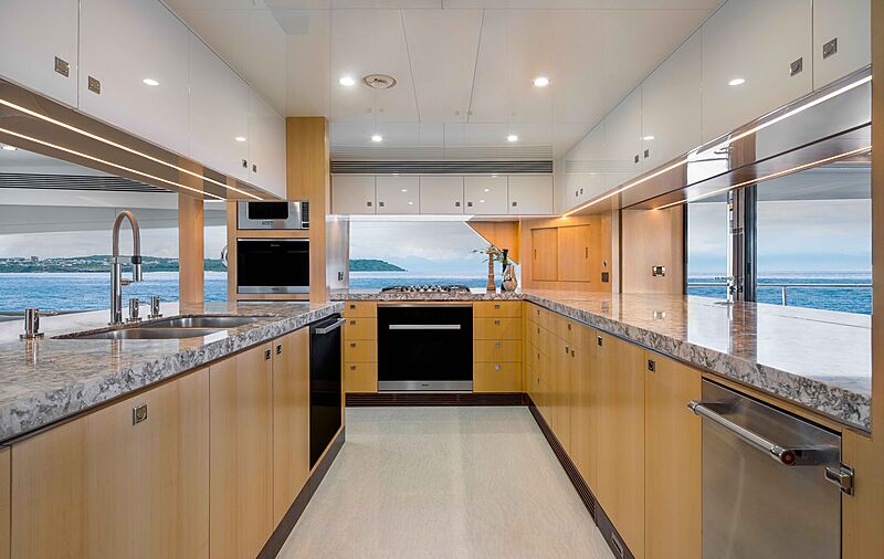 FD90 Hull 14 yacht galley