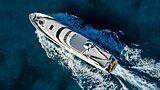 Black Swan yacht aerial