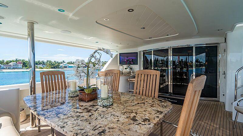 Black Swan yacht deck