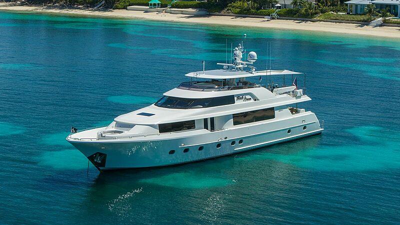 Black Swan yacht anchored
