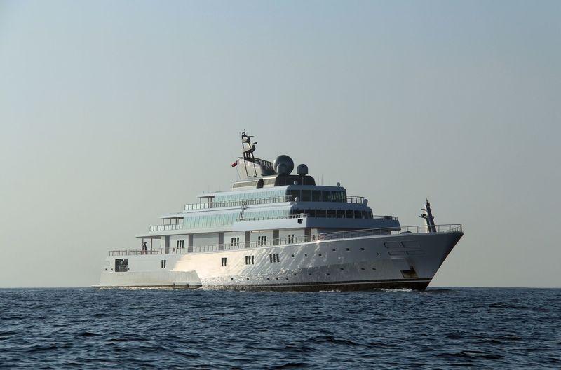Rising Sun cruising off Gibraltar