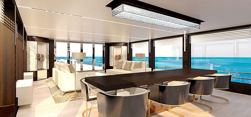 Canados Oceanic 140 yacht interior design