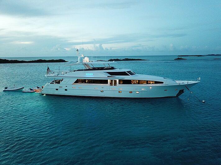 Wonder yacht at anchor