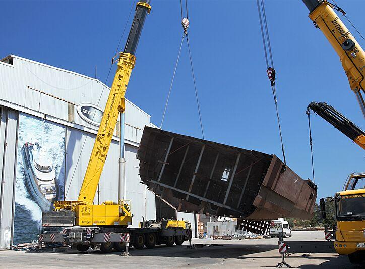 Bering 145 yacht in build in Antalya