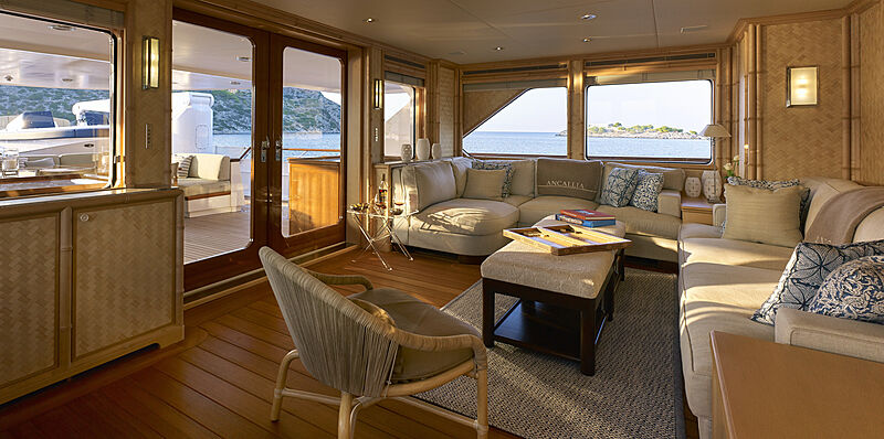 Ancallia yacht upper deck saloon