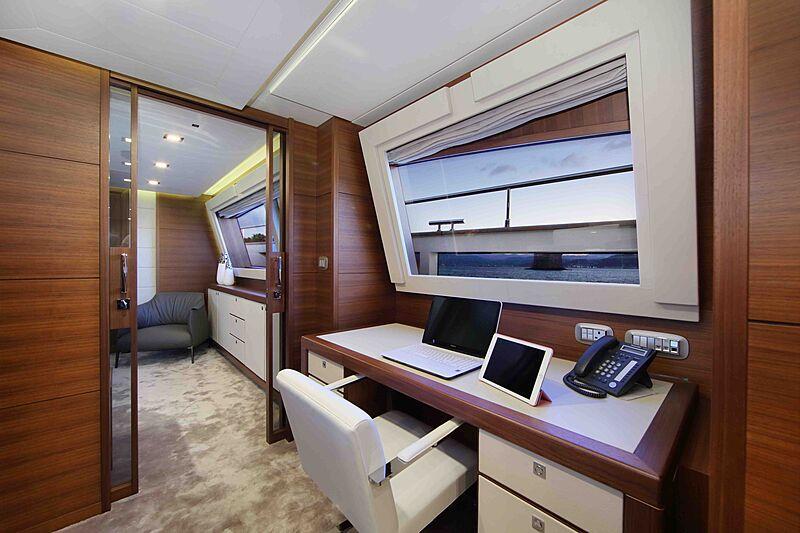 Lady Dia yacht study room