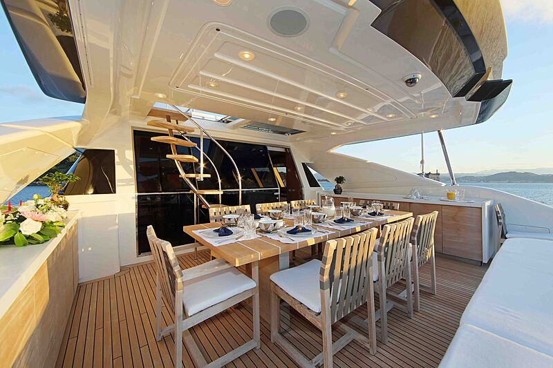 Lady Dia yacht aft deck