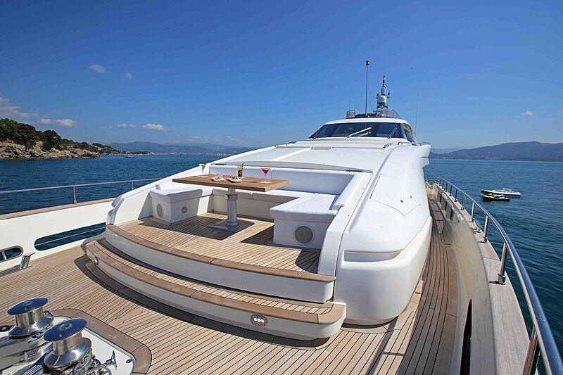 Lady Dia yacht deck