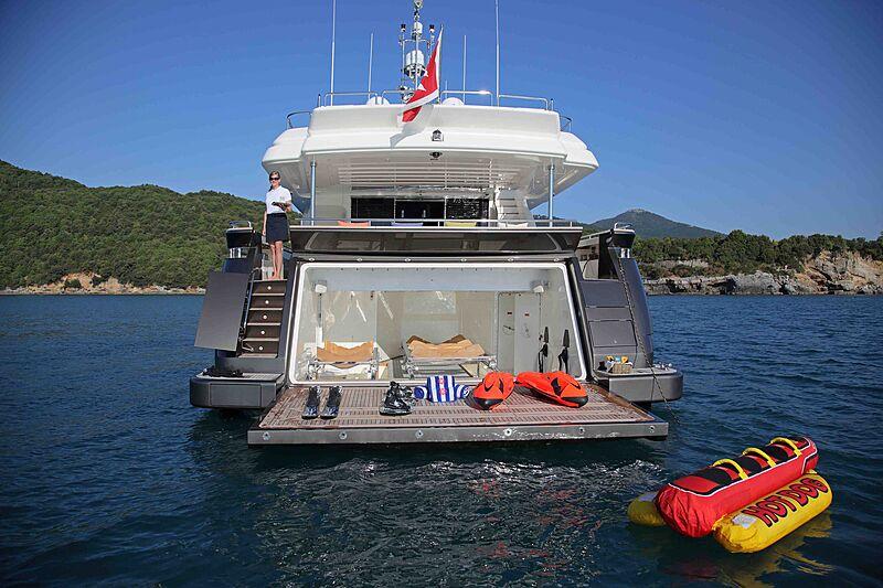 Lady Dia yacht anchored