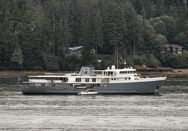 Just B yacht by Amels in Auke Bay, Alaska