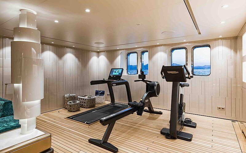 Soaring yacht gym