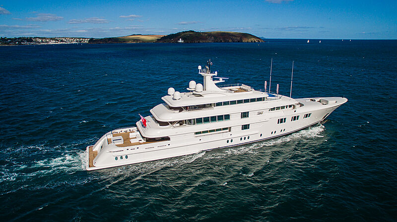 Lady E yacht by Amels in Falmout