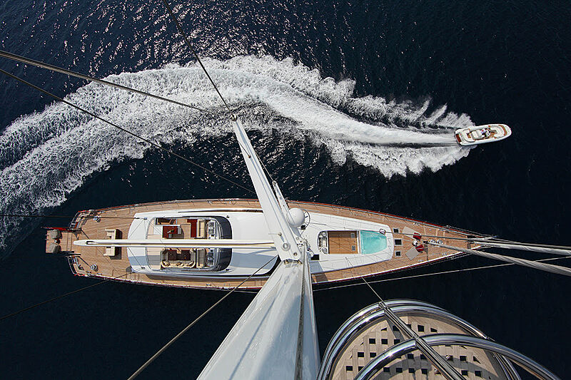 Prana yacht anchored