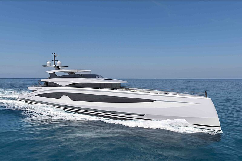 Project Sparta yacht exterior design