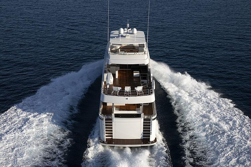 Eileen's Way yacht cruising aerial
